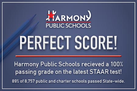 Perfect Score! HPS received a 100% passing grade on the latest STAAR test!
