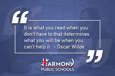 It is what you read when you don't have to that determines what you will be when you can't help it. — Oscar Wilde