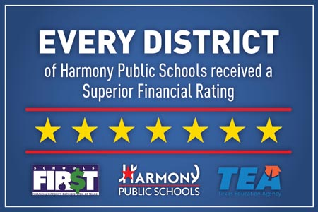 Every District of Harmony Public Schools received a Superior Financial rating