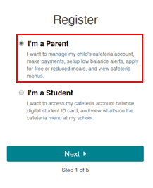 Register: I'm a Parent